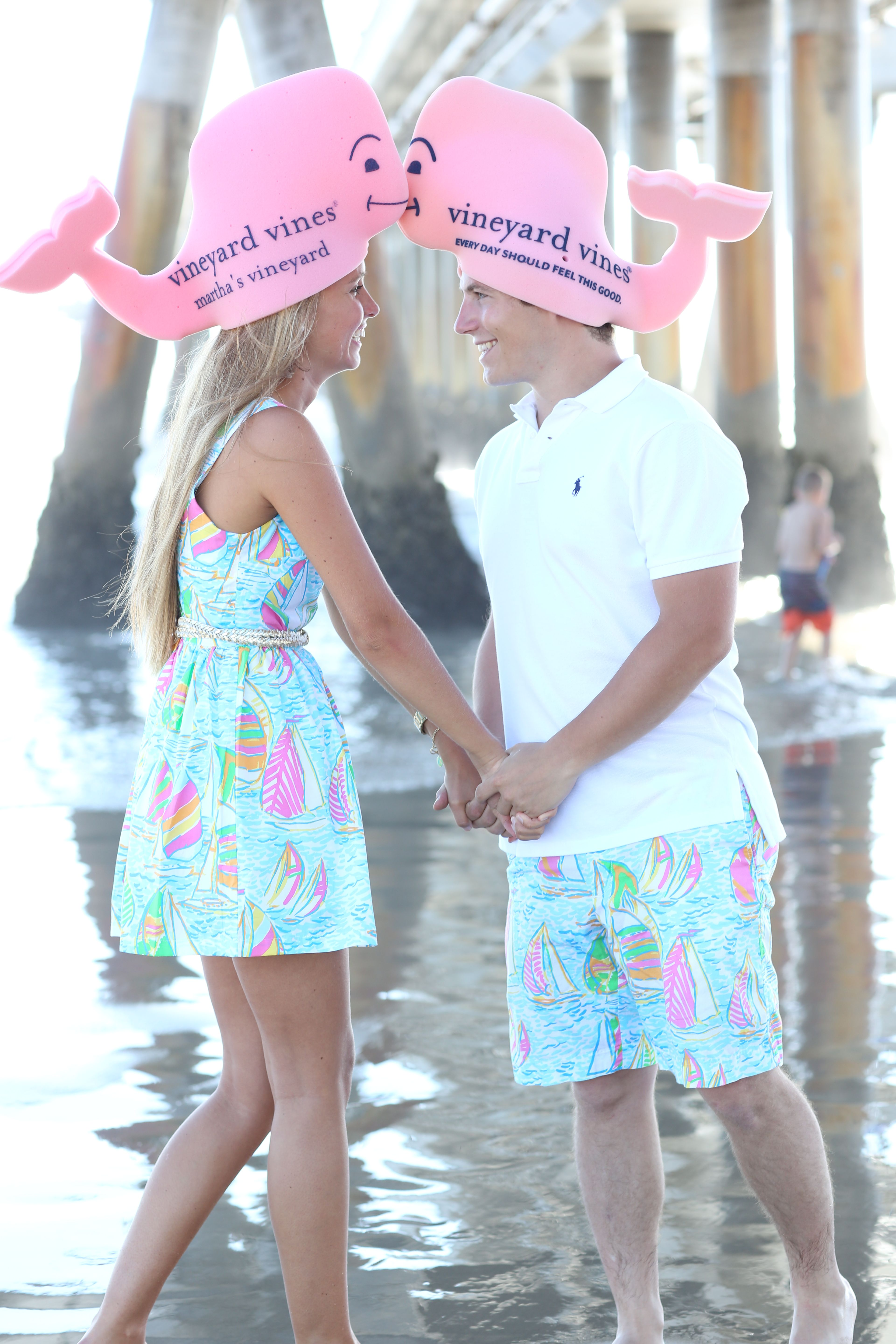 e024f4ab73d68 lilly pulitzer matching preppy couple you gotta regatta every day should  feel this good vineyard vines foam pink whale hat derby