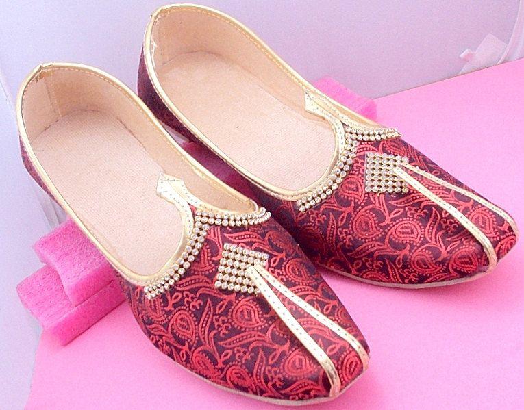 Indian Handmade Wedding Mojari Juti Men Shoes Punjabi Khussa