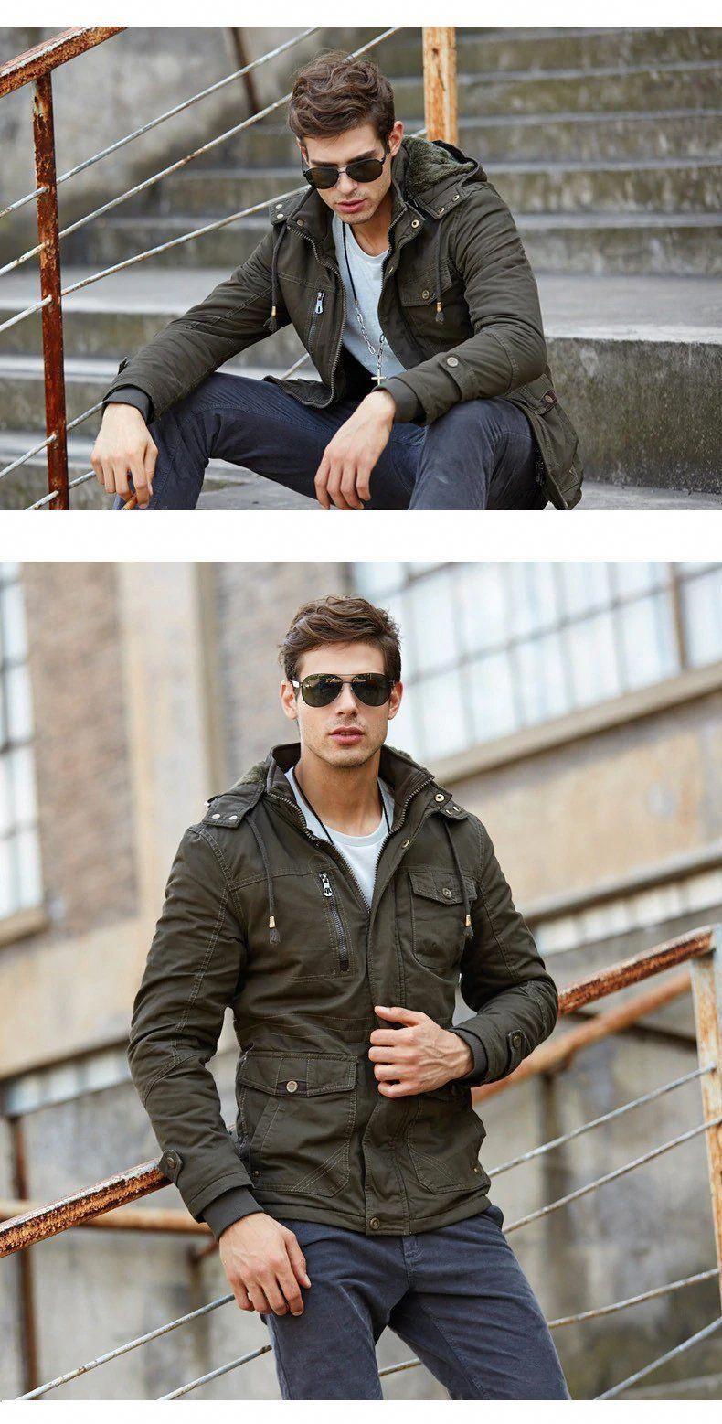 Men S Military Style Winter Jacket Hooded Army Style Thick Wool Liner Cotton Military Jacket Tactica Mens Winter Fashion Mens Fashion Smart Mens Fashion Casual [ 1557 x 790 Pixel ]