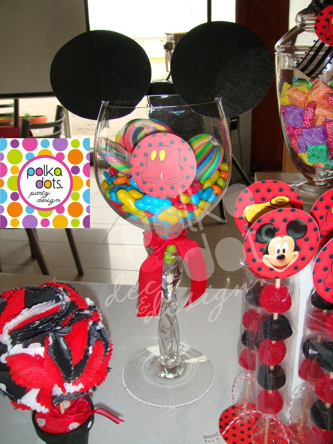 788975e1a Polka Dots | Party Design: Candy Bar de Mickey para MATEO! | mickey ...