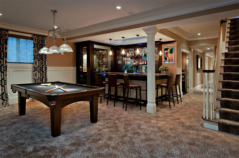 basement layout ideas Home Theaters Game Rooms Bars Pinterest
