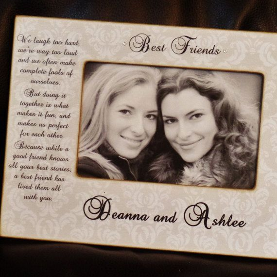 Best Friends Personalized Picture Frame 4x6 Frame By Ohnoavocado