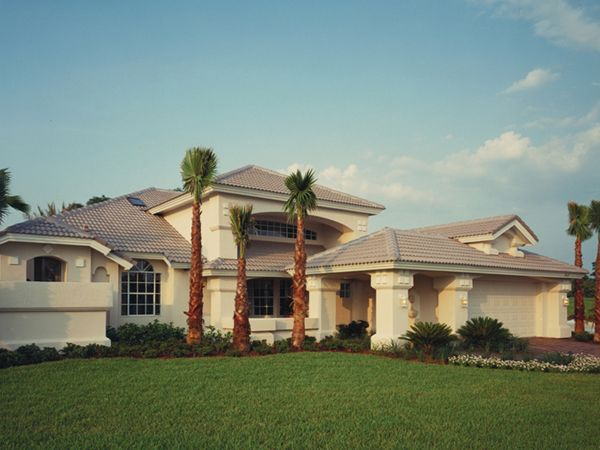 Florida one story house designs luxury mediterranean for Luxury mediterranean home plans
