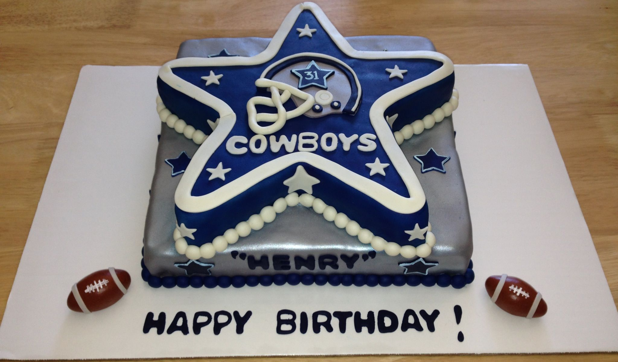 Dallas Cowboys Birthday Cake Home Pinterest Cowboy Birthday