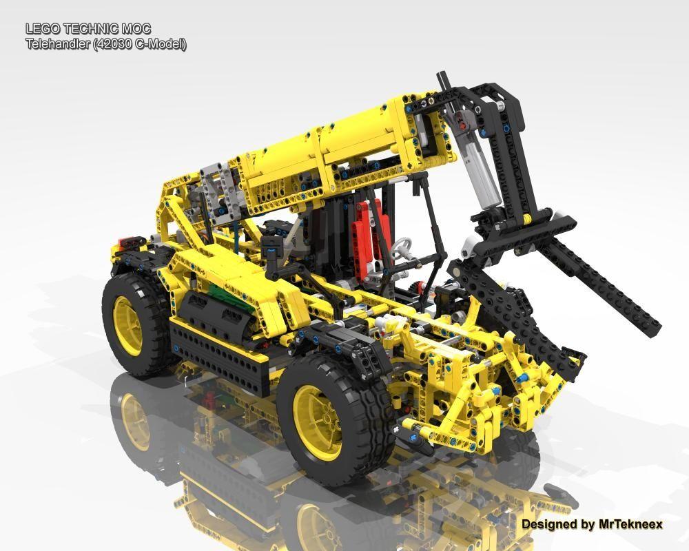 Telehandler (42030 CModel) Lego hobby, Lego models
