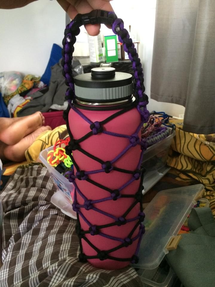 Hydroflask Paracord Carrier.