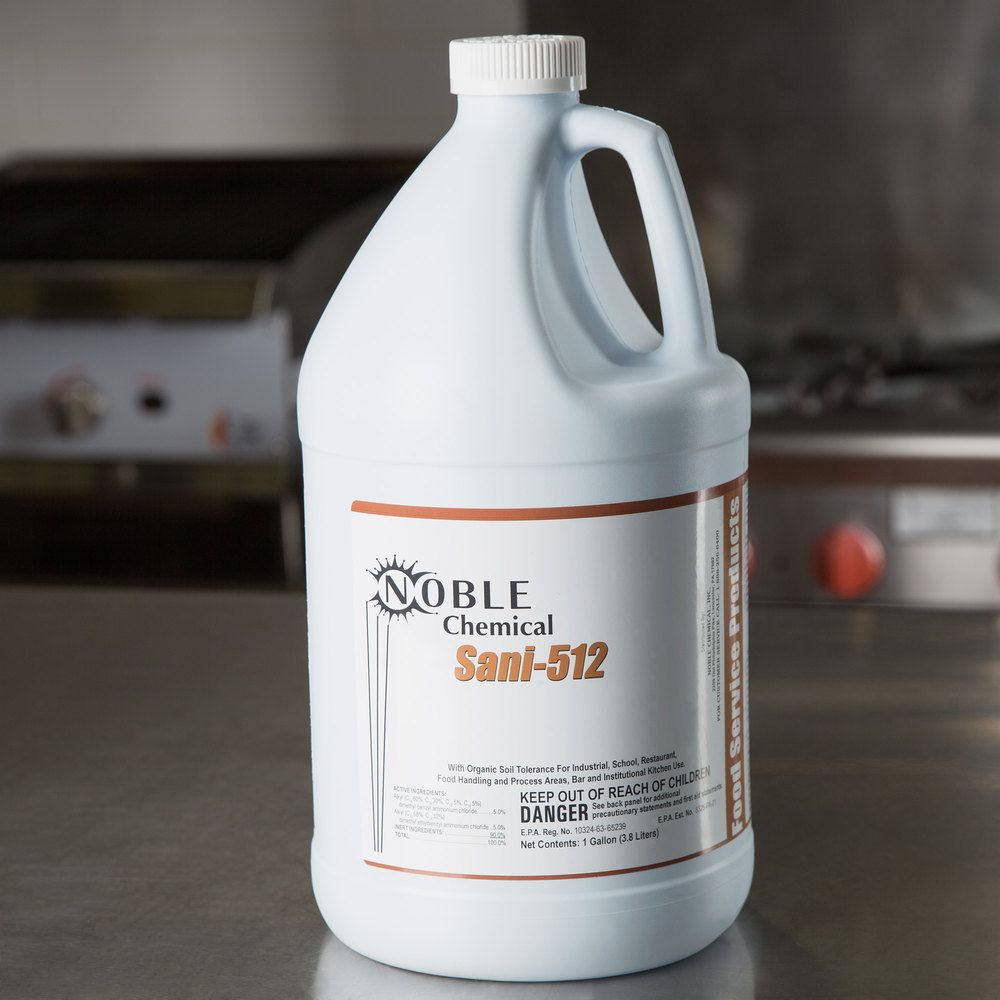 Noble Chemical Sani 512 1 Gallon 128 Oz Sanitizer