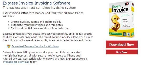 Save Discount NCH Express Invoice Invoicing Software Coupon And - Invoice software nch