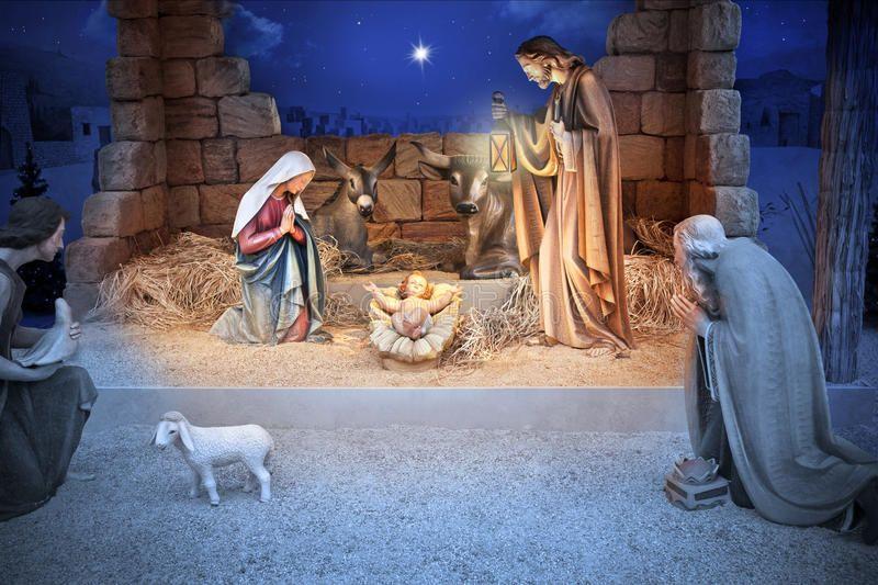 Christmas Nativity Jesus Birth. A Christmas nativity scene