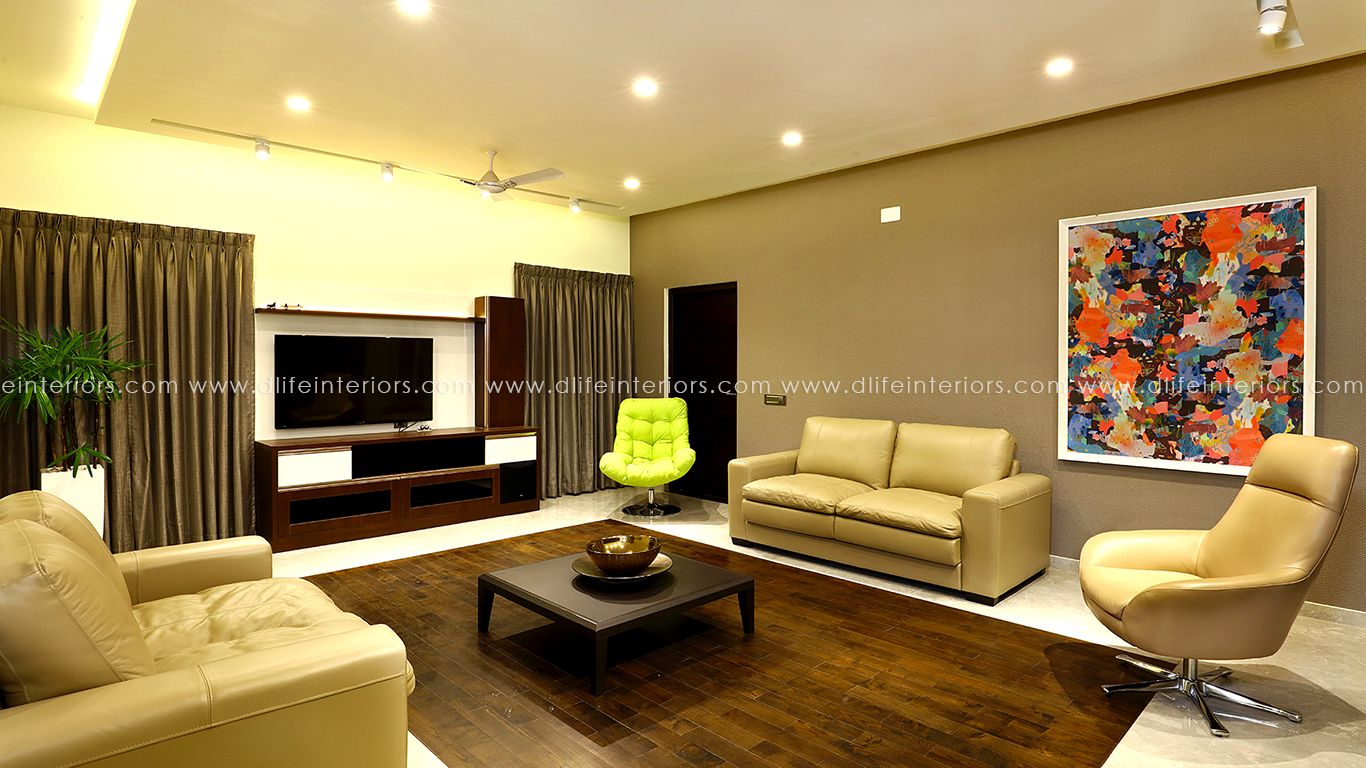 Living Room With All Essential Furniture And Wall Decorations Customized Home Interior Design Project Done By D Life Interior Projects House Interior Interior
