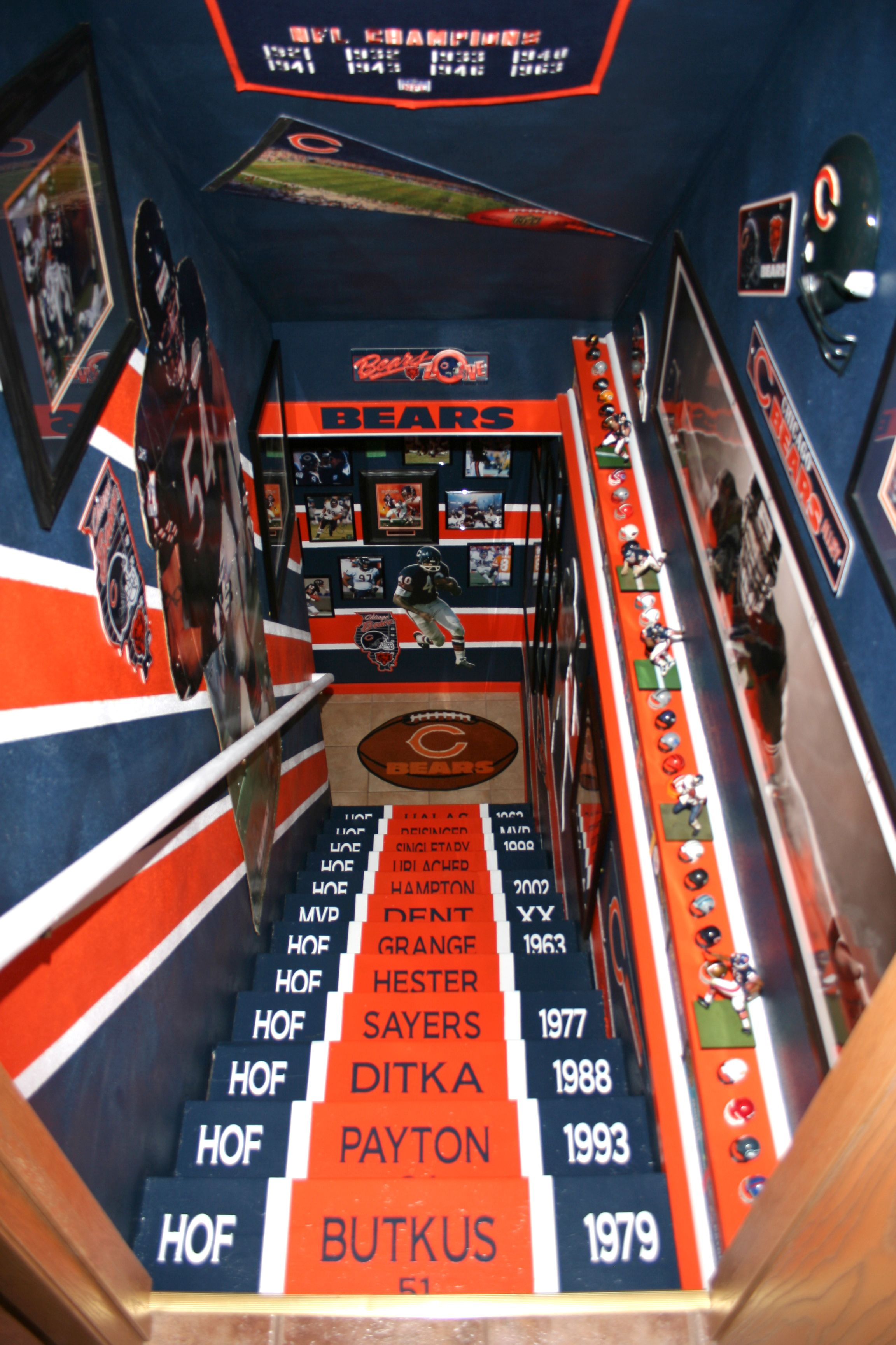 Jack Loves The Bears He Would Love This Chicago Bears Man Cave Chicago Bears Room Man Cave Ideas Sports