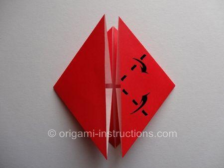 Origami Blossom Heart Step 6