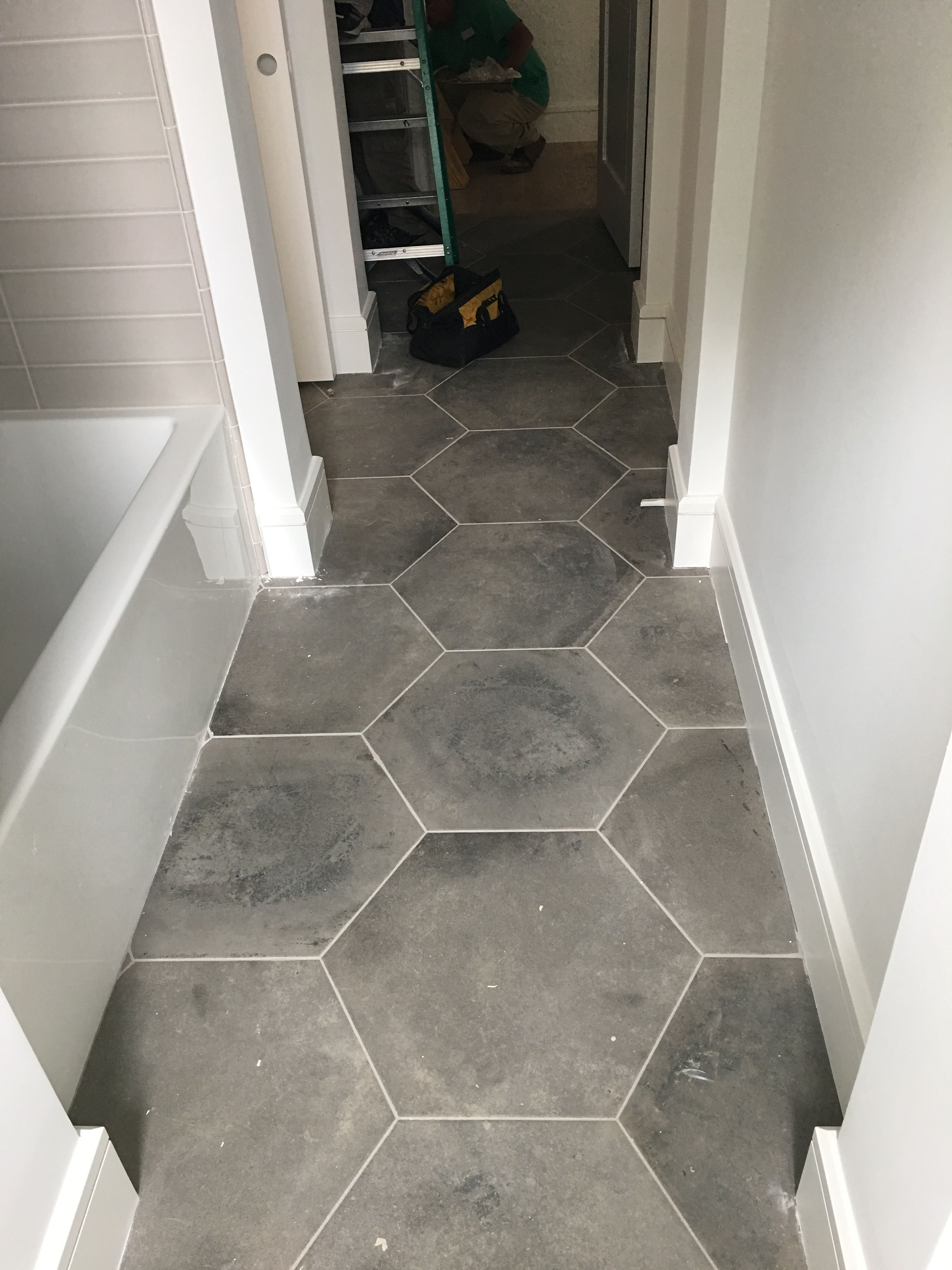 bathroom floor tiles hexagon tile floor