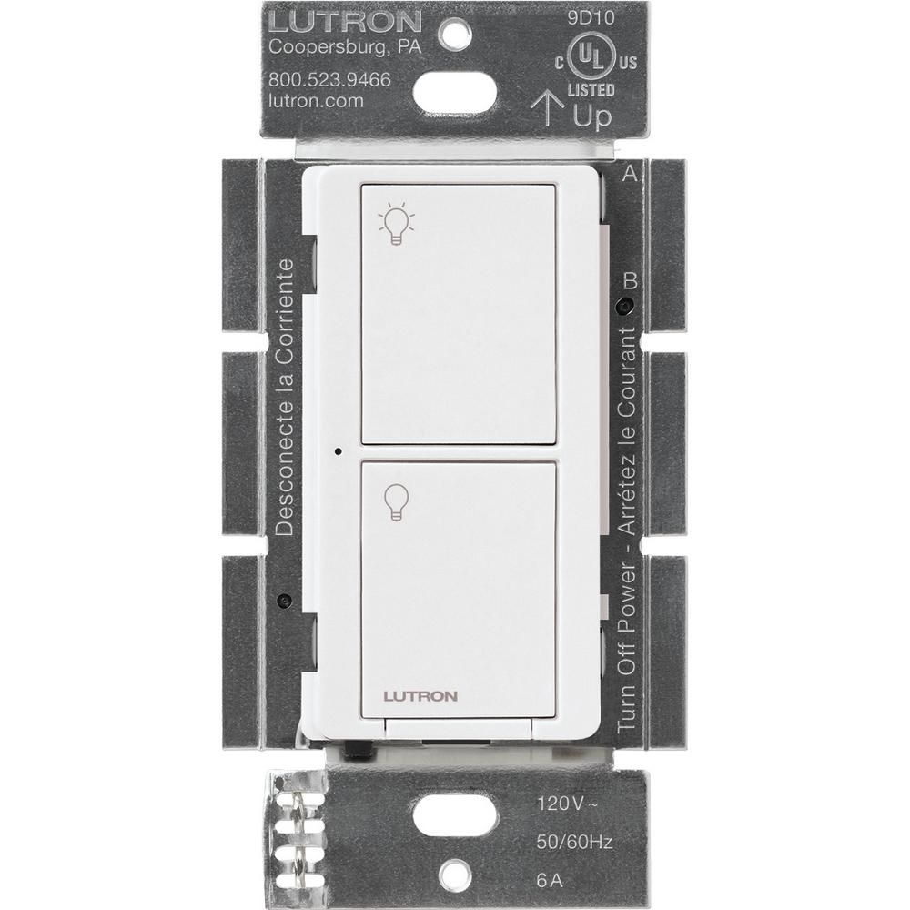 55 Lutron Caseta Wireless 6 Amp Multi Location In Wall Neutral Switch White Model Pd 6ans Wh R Smart Lighting Lutron Led Light Switch