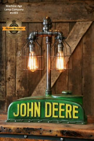 Steampunk industrial table lamp case farm tractor lamp 1491 steampunk industrial lamp antique john deere a farm tractor 1493 aloadofball Image collections