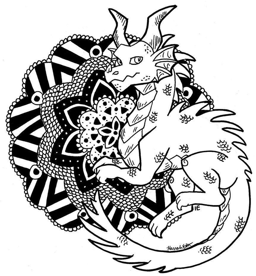 Coloriage mandala de dragon des milliers de coloriage imprimable gratuit images hd pour les - Mandala de dragon ...