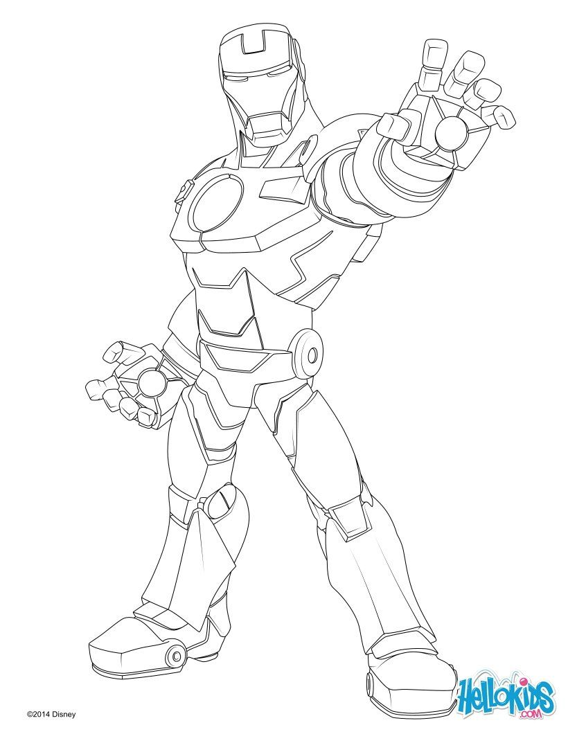 Iron Man coloring page. More super heroes coloring pages on ...