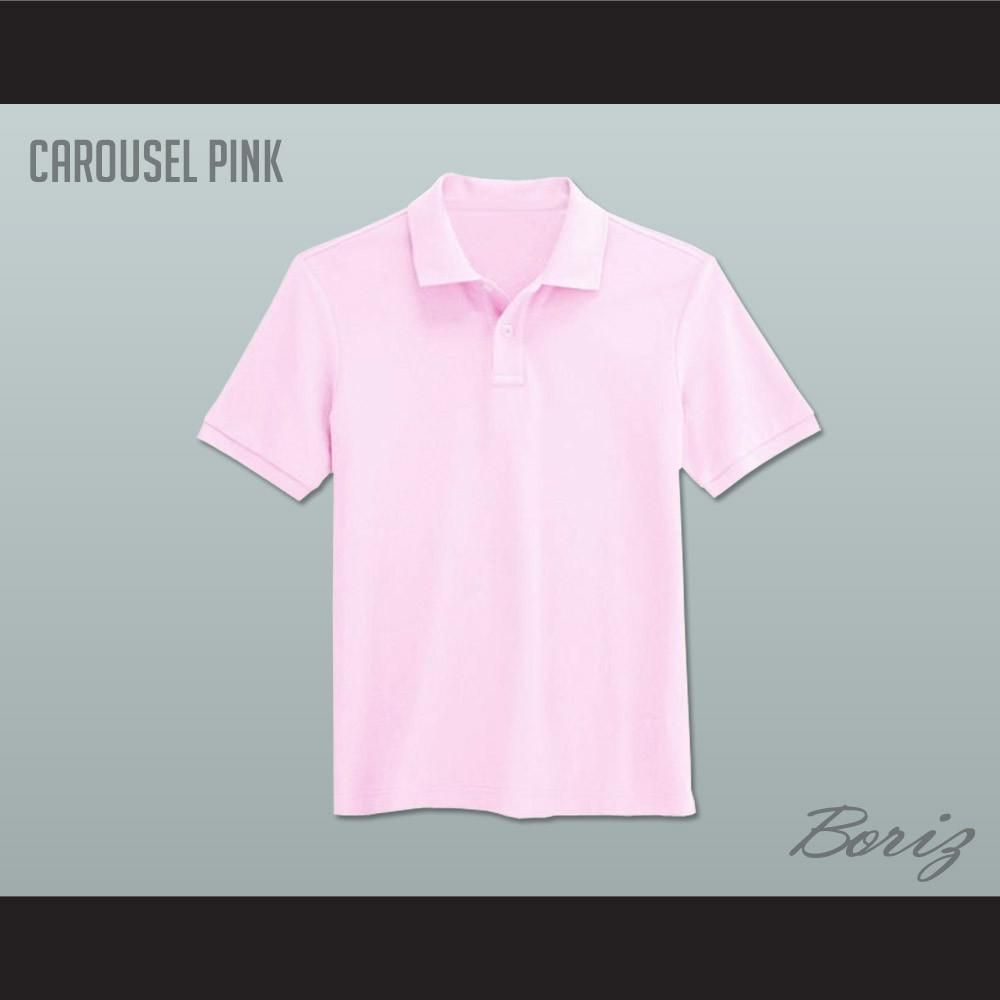 Mens Solid Color Carousel Pink Polo Shirt I Have All Sizeswidth