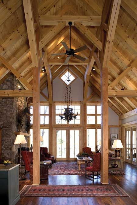 Mill Creek Post Beam Company Mirror Lake Timber Frame House Plans Timber Home Living Timber House Timber Frame Homes House