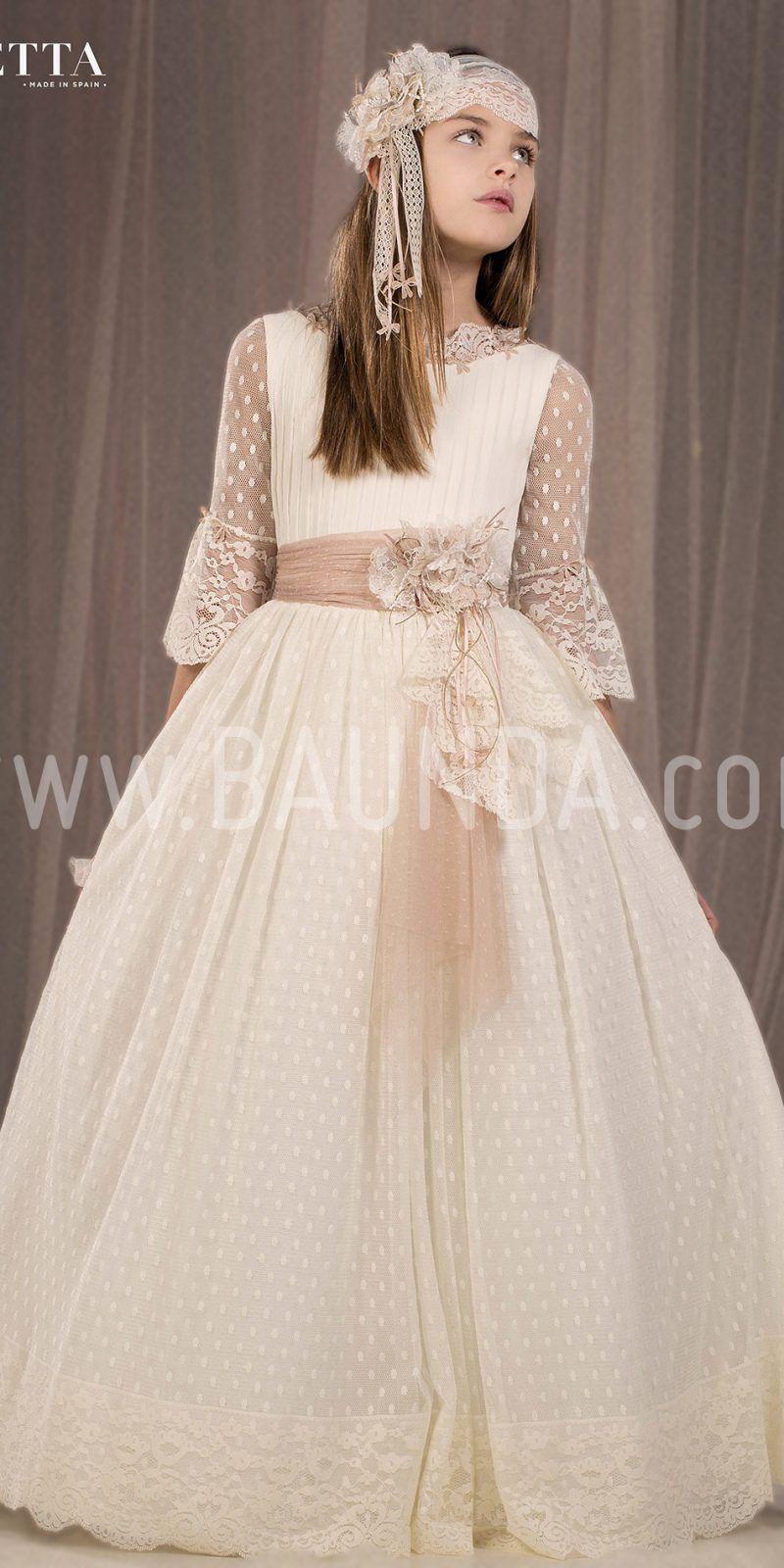 Communion Dress Spanish Design Roberto Torretta 2018 H497 -6600