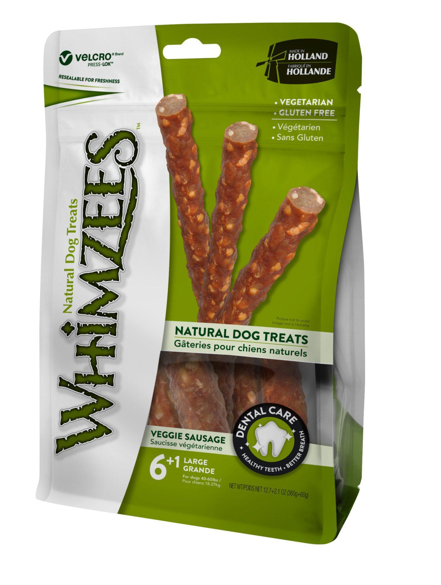 Whimzees Large Veggie Sausage Dog Treats 7 Count Dog Food