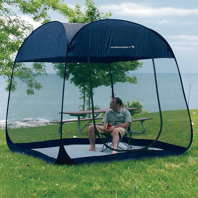 Sportcraft 8 Ft Pop Up Screen Room With Floor Screen Tent Pop Up Screens Canopy Tent
