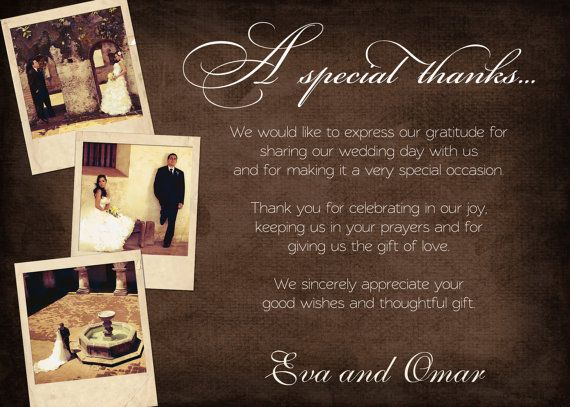 17 Best images about Wedding thank you – Thank You Card Messages Wedding