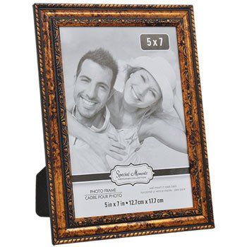 Special Moments Carved Inner-Edge Wood-Look Plastic Photo Frame, 5x7 ...