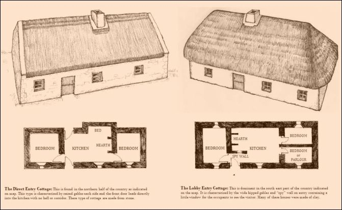 Irish Cottage House Plans Luxury The Main Types Of Cottage In Rural Ireland From The 1860s Dr Irish Cottage Porch House Plans House Plan Gallery