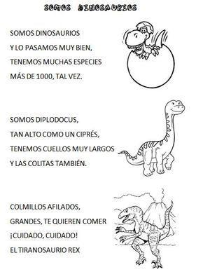 Venimos A Aprender Poesia De Los Dinosaurios Proyectos De Dinosaurios Actividades De Dinosaurios Proyectos Educacion Infantil