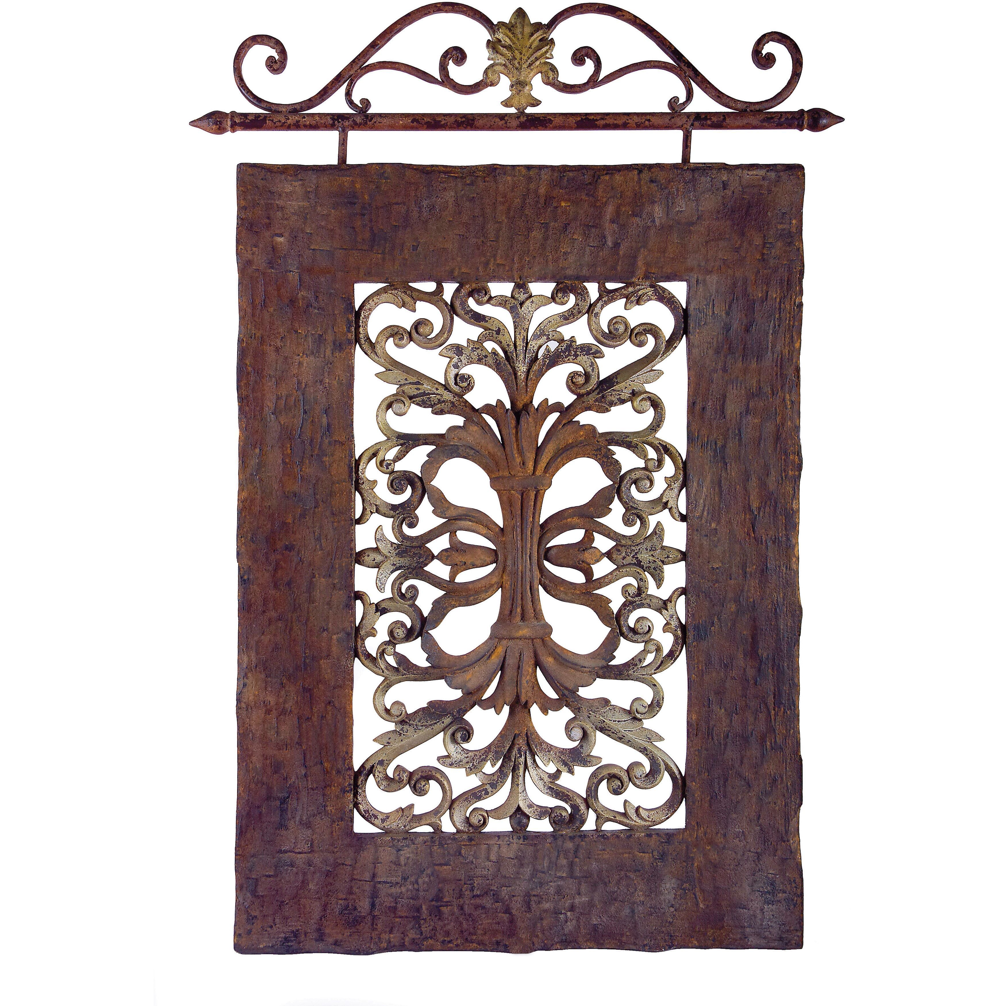 Iron Pieces Walls Imax Casa Lucia Hanging Panel Hanging Panel Brown Iron