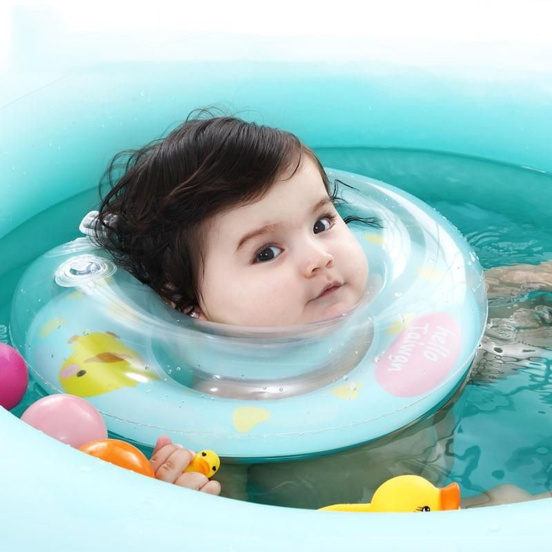 Mambobaby Swimming Baby Neck Float Ring Inflatable In Water Kids ...