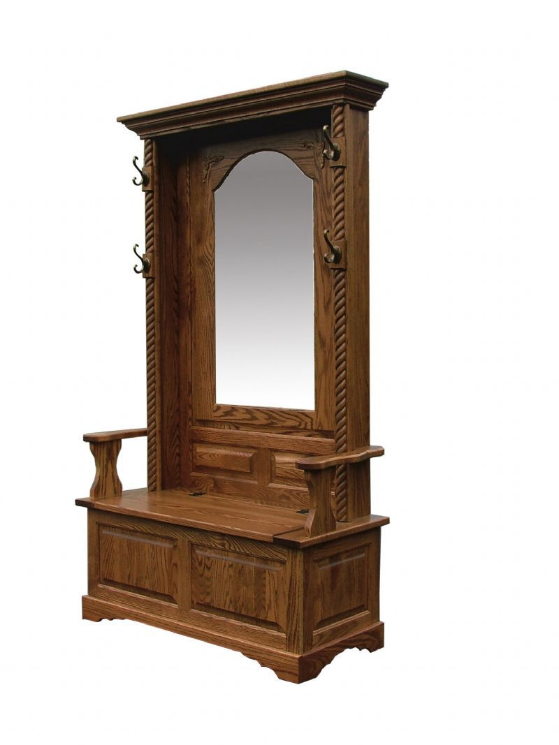 7 Hall Tree Bench Furniture Amish Entryway Furniture