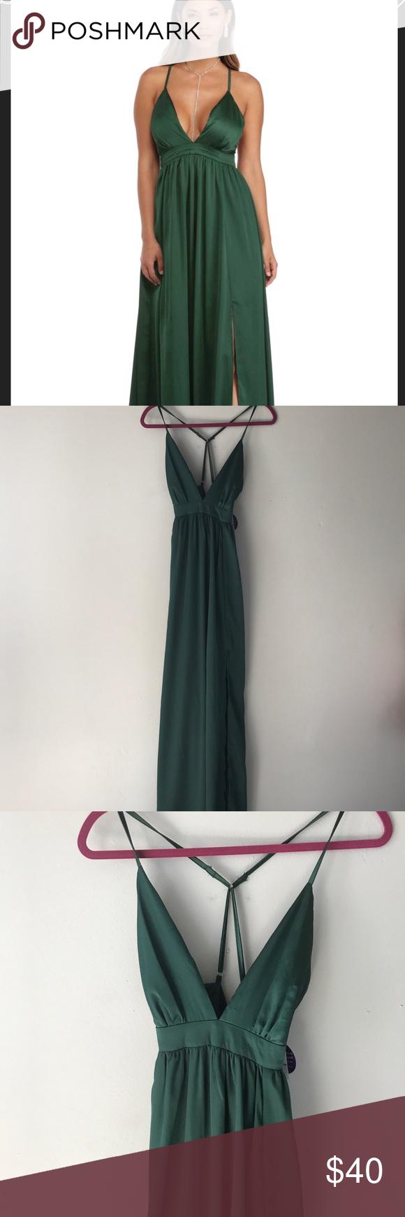Nwt windsor emerald high slit prom dress nwt my posh picks