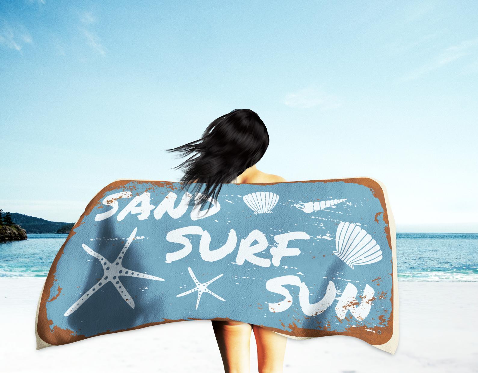 Sand Surf And Sun Beach Towel Beach Towel Oversized Beach Towels Surfing