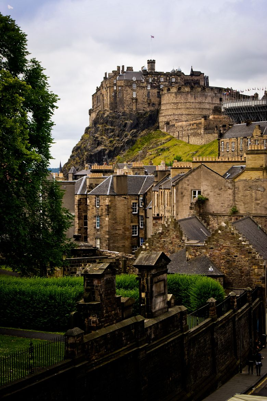 Edinburgh Castle Is A Fortress Dominating Skyline Of Edinburg