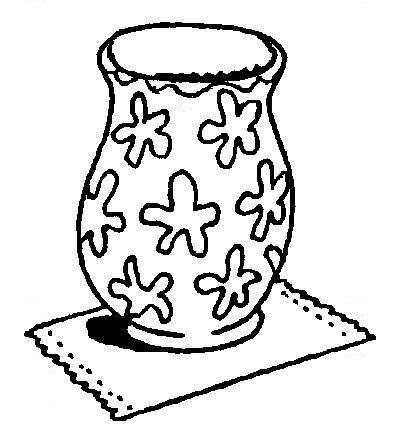 Kleurplaten Vaas Met Bloemen.Kleurplaat Vaas Zonder Bloemen Print De Vaas Laat De Kinderen Er Een