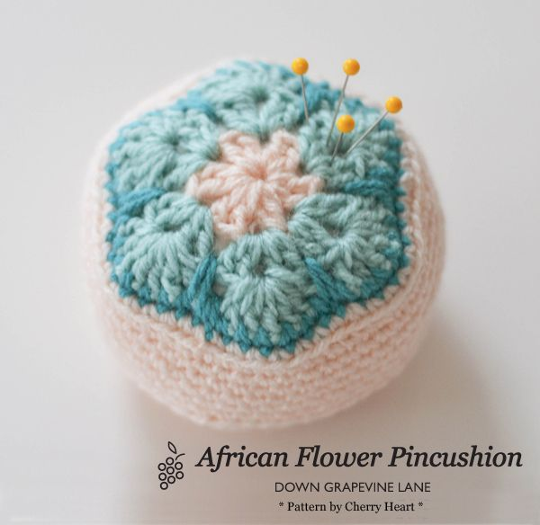 Solo crochet adventures, pincushion  ~ by Down Grapevine Lane
