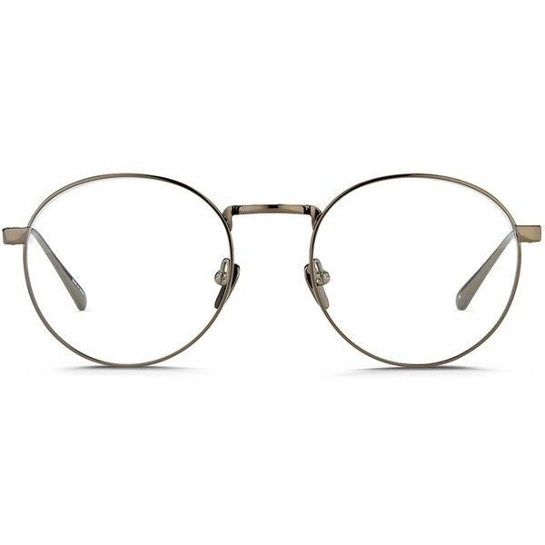 9c568a3a7fd Linda Farrow Round titanium optical glasses ( 795) ❤ liked on Polyvore  featuring accessories