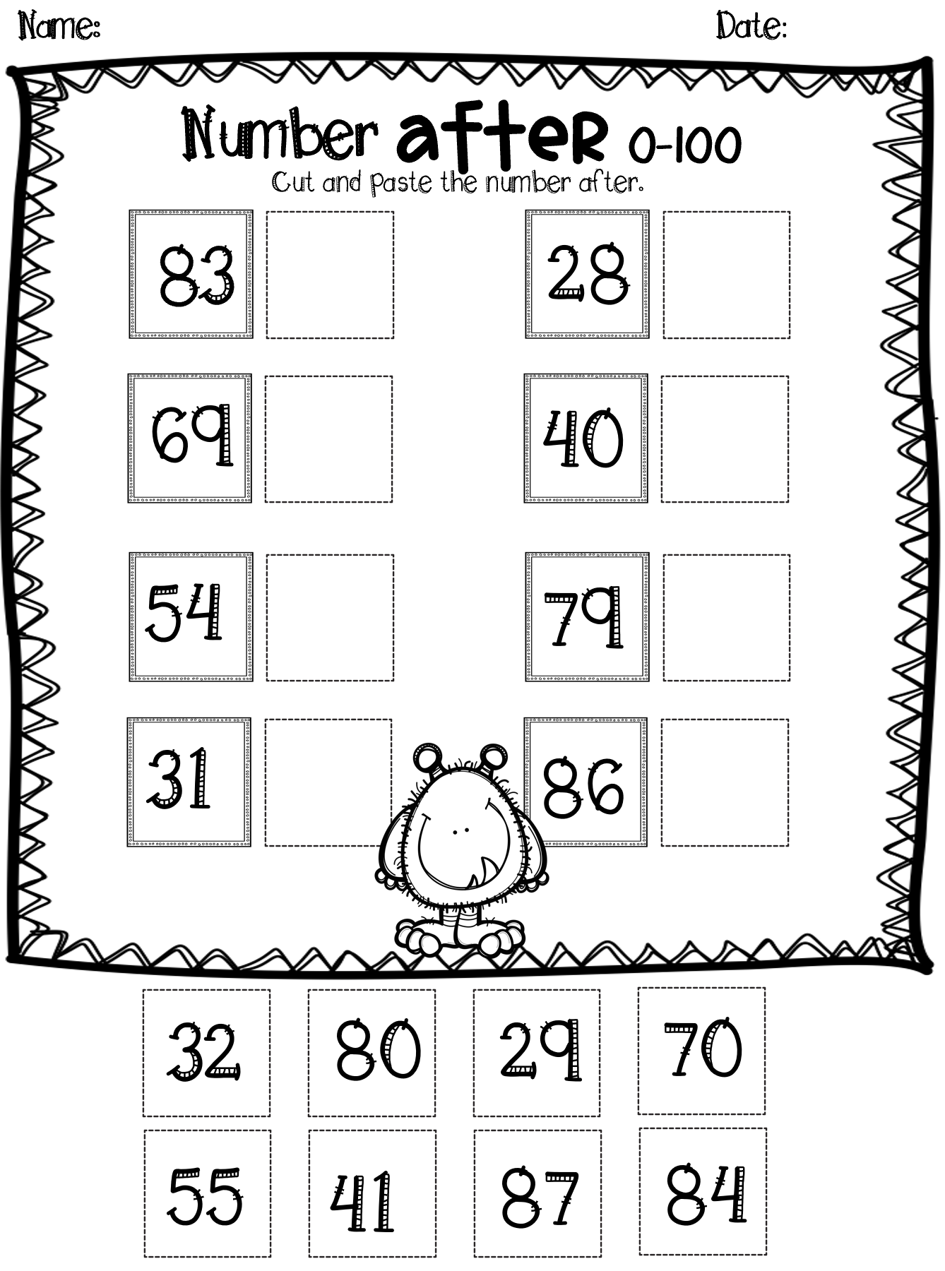 20 Worksheets Putting Numbers In Order Numbers Up To