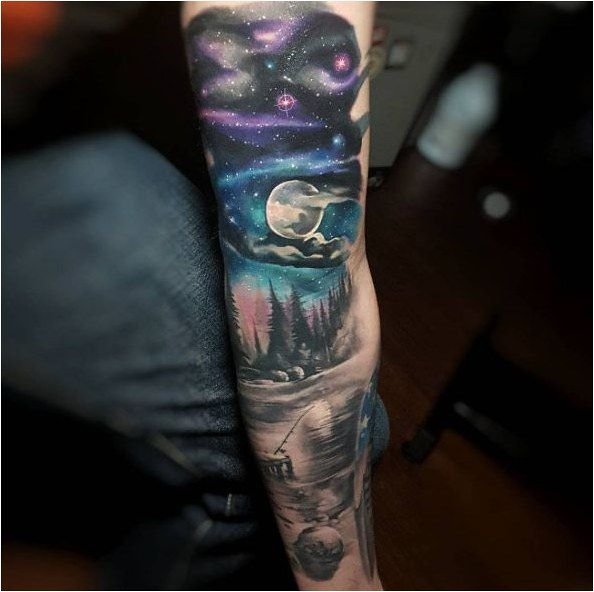 Tattoo Starry Night Sleeve Tattoo By Tyler Malek Click To See More