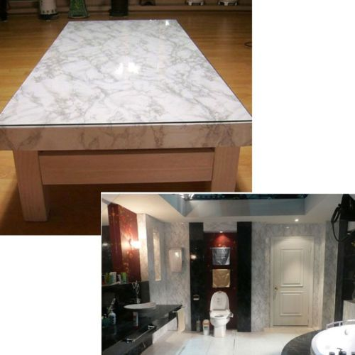 White Granite Look Marble Effect Counter Top Film Vinyl Self