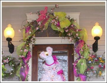Easter Decorating Ideas - mesh ribbon.... | DIY Home Decor ...