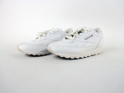 7dc2aaa40ad639 REEBOK Classic Renaissance Tennis Shoe White Sneaker Womens Size 8 D Wide  EUC
