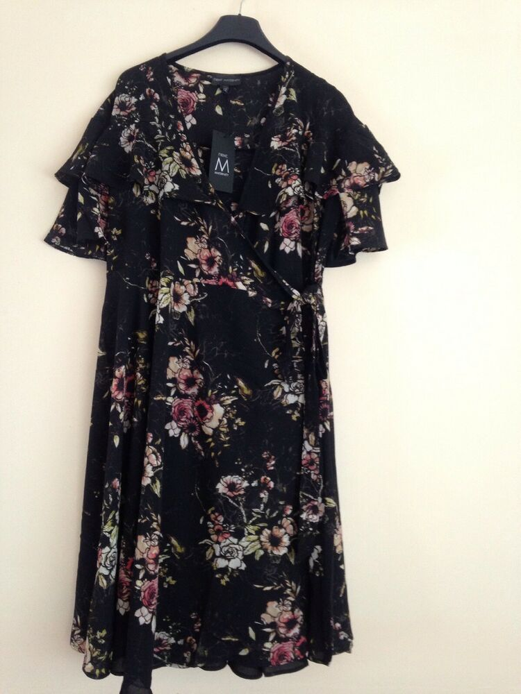 5e6a30d0a5d Black And Red Floral Maternity Wrap Dress Size 12 Brand New  fashion   clothing  shoes  accessories  womensclothing  maternity (ebay link)