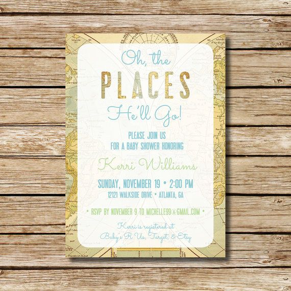 baby shower invitation travel themed shower invite baby oh the
