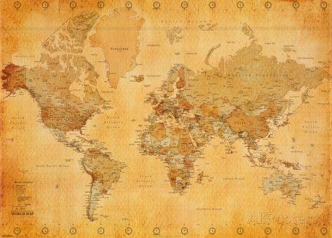 Poster Cartina Geografica Mondo.Carta Geografica Mondiale Poster Su Allposters It Mapa Mundi