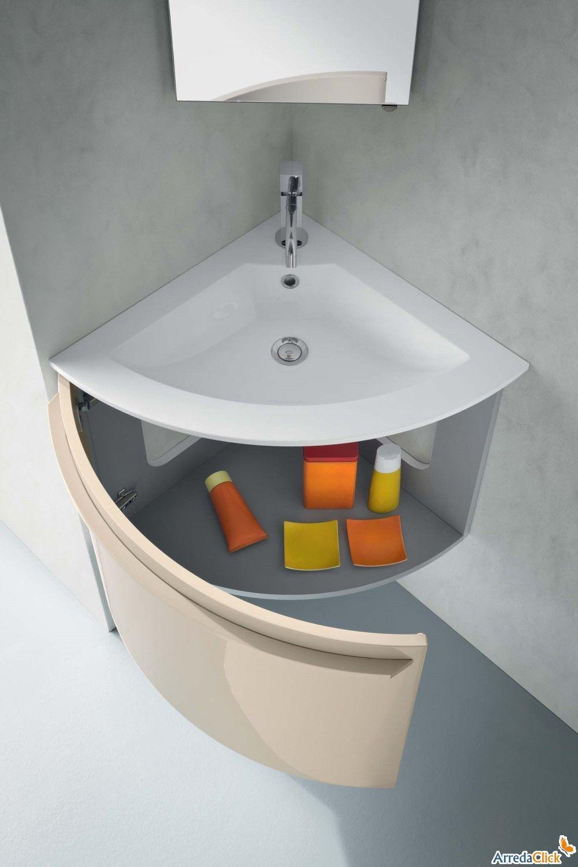 Specchio Per Lavandino Angolare mobile lavabo ad angolo