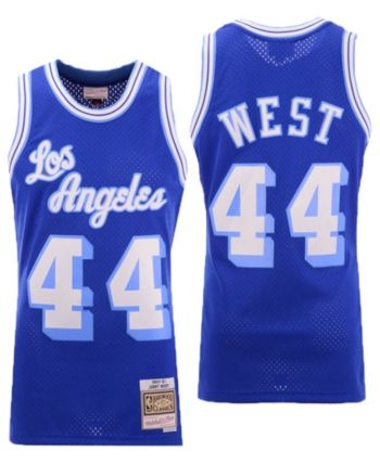 low priced fa2be ece9f Men's Jerry West Los Angeles Lakers Hardwood Classic ...