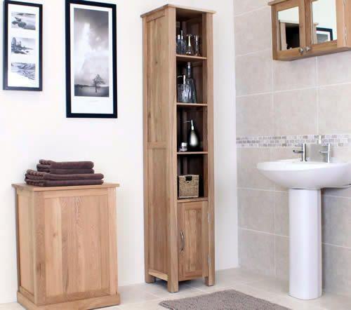 OAK Bathroom Storage Cabinet Bathroom Storage Cabinets